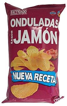 HACENDADO PATATAS FRITAS ONDULADAS JAMON PAQUETE 170 g