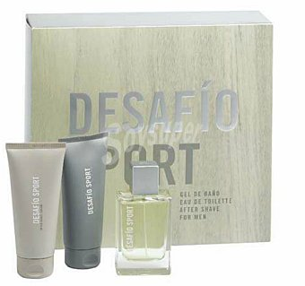 DESAFIO LOTE HOMBRE DESAFIO SPORT EAU TOILETTE 75 ml + GEL BAÑO 100 ml + AFTER SHAVE 100 ml u