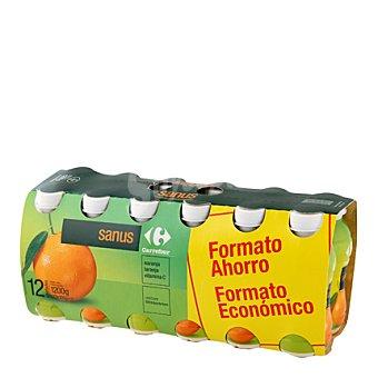 Carrefour Yogur líquido Sanus Naranja Carrefour Pack 12x100 g