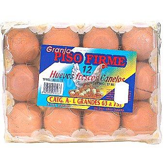 Piso firme huevos clase L estuche 12 unidades