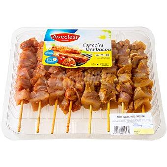 AVECLASS Pinchos mixtos de pollo Bandeja 800 g