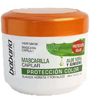 Babaria Mascarilla aloe vera y ginseng protección del color 400 ml