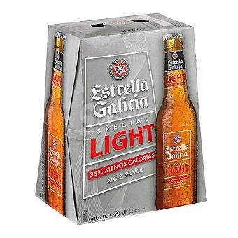 Estrella Galicia Cerveza light Pack 6x33 cl