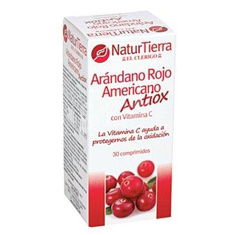 NATURTIERRA Arandano rojo americano antioxidante con vitamina C envase 48 g 30 comprimidos