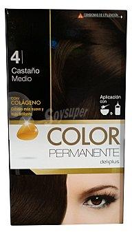 Deliplus Tinte coloracion permanente Nº 04 castaño (contiene colageno para hidratar) u