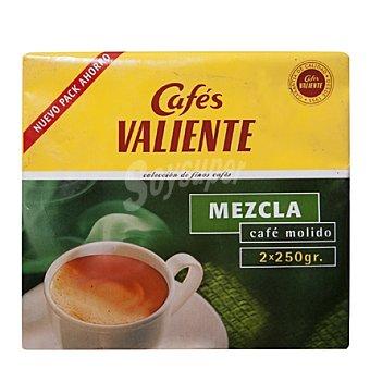 CAFÉS VALIENTE Café molido mezcla Pack de 2x250 g
