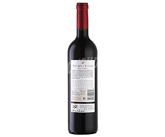 Señorío de Bullas Vino tinto crianza monastrell y shiraz con denominación de origen Bullas (Murcia) botella de 75 centilitros