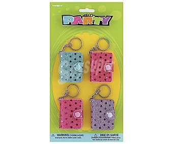 Party Relleno para piñatas, mini libretas brillanes con corchete 4 unidades