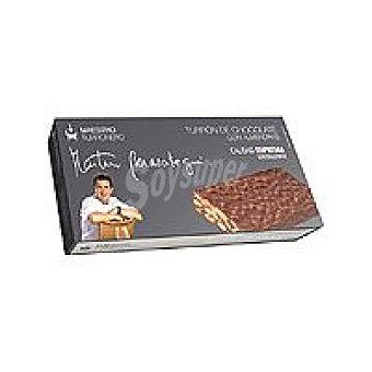 Martín B. Turrón de chocolate con almendras Caja 300 g
