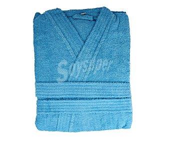 Actuel Albornoz infantil rizo 100% algodón color azul turquesa, 340 gramos/m², talla 6-8 años producto económico alcampo 1 unidad 340 gramos