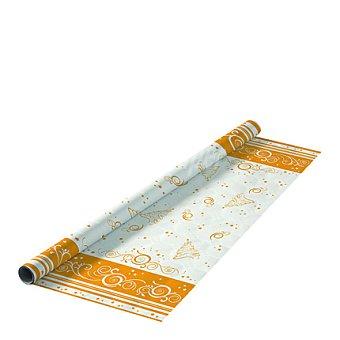 Gold Mantel desechable en rollo 5x1,2 m. decorado Romantica Navidad 1 ud