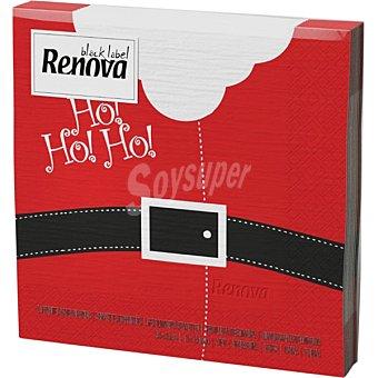 RENOVA Black Label servilletas decorado Santa Claus 33x33 cm  paquete 20 unidades