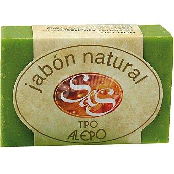 S&S Pastilla de jabón natural tipo Alepo Pastilla 100 g