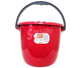 Auchan Cubo de agua redondo Rojo 12 Litros 1 ud