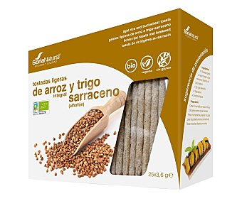 Soria Natural Tostadas de arroz integral y trigo sarraceno 90 g
