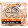 Torta de naranja paquete 180 g 6 unidades ANDRES GAVIÑO