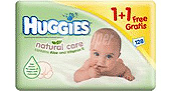 Huggies Natural Care TOALLITAS 1+1 128 UNI