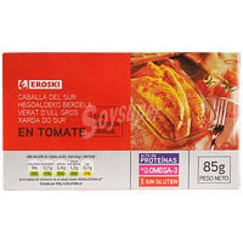 Eroski Caballa con tomate Lata 85 g