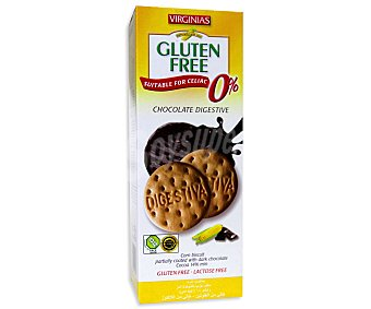 Virginias Galletas digestivas de chocolate negro sin gluten 135 gramos