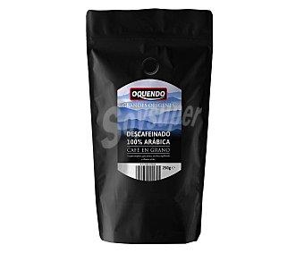 Oquendo Café en grano descafeinado 100% Arábica 250 gr