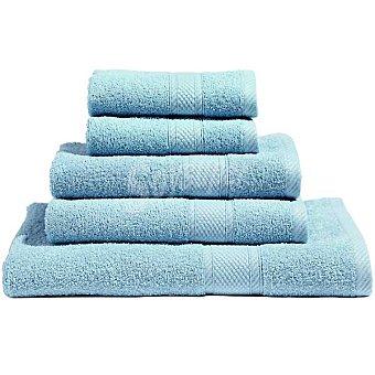 Casactual Araceli set 2 toallas de tocador lisas de rizo americano en color azul