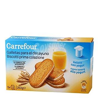 Carrefour Galletas integrales rellenas con yogur Carrefour 253 g