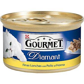 Gourmet Purina Finas lonchas de pollo al horno Diamant Lata 85 g