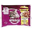Comida para gatos húmeda selección aves Bolsa 4 uds. 100 g Whiskas