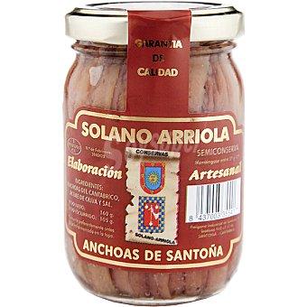 Solano Filetes de anchoa en aceite de oliva Frasco 105 g neto escurrido