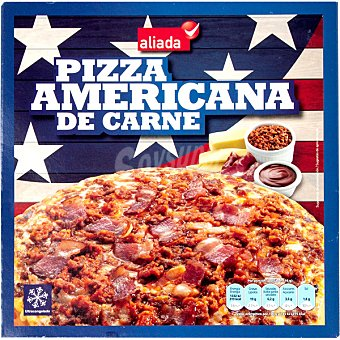Aliada pizza americana de carne estuche 465 g