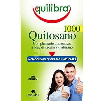 EQUILIBRA Quitosano 1000 Metabolismo de las grasas y azúcares Envase 40 capsulas