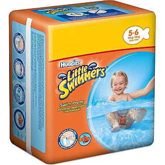 Huggies Little Swimmers Pañal bañador desechable + talla 6, 16 kg paquete 10 unidades