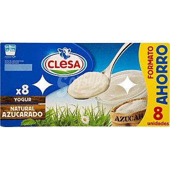 CLESA Yogur natural azucarado Pack 8 unidades 125 g