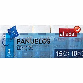 Aliada Pañuelos blancos 3 capas Paquete 15 unidades