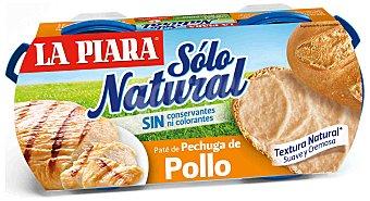 La Piara Sólo Natural Paté de pollo Pack 2 x 75 g