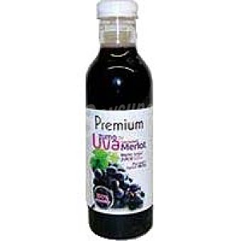 Premium Zumo exprimido de uva merlot Botella 75 cl
