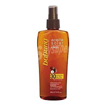 Babaria Aceite solar de coco FP 30 spray 200 ml
