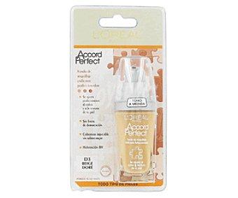 L'Oréal Fondo de Maquillaje Accord Perfect D3 Beige Dore 1 Unidad
