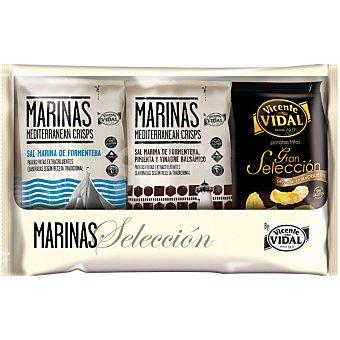 VICENTE VIDAL Pack bolsa Gran Selección + 2 bolsas Marinas Mediterraneans Crisps  envase 465 g