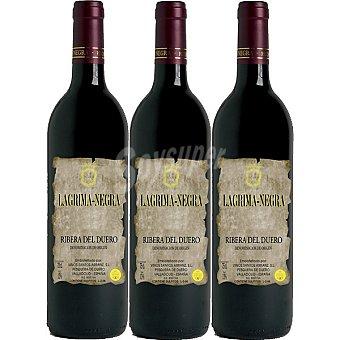 LAGRIMA NEGRA Vino tinto crianza D.O. Ribera del Duero Estuche 3 botellas 75 cl