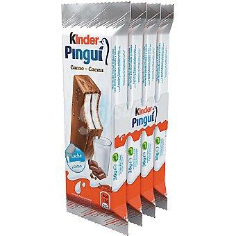 Kinder Kinder Pingui. Chocolate  Pack 4 unidades envase 30 g