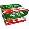 Yogur con bífidus naturales y fresas Pack 4 u x 125 g  Activia Danone