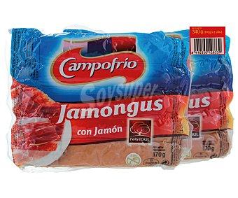 Campofrío Salchichas Jamongus con jamón Pack de 2x190 g