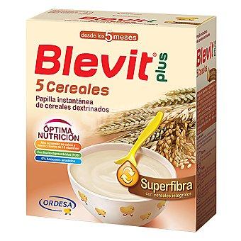BLEVIT Plus Papilla superfibra 5 cereales Caja 600 g
