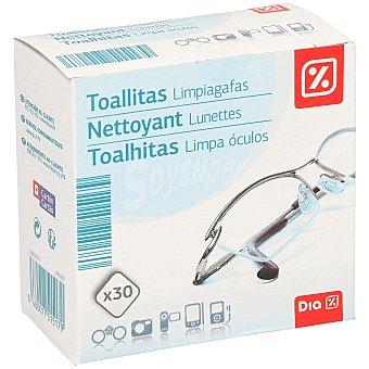 DIA Toallitas limpiagafas caja 30 uds 30 uds