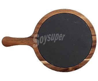 QUID Select Tabla de madera y pizarra redonda especial para presentación 30x20 centímetros, Select QUID.