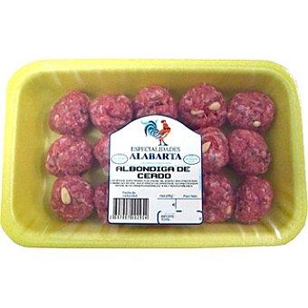 ALABARTA Albóndigas de cerdo peso aproximado Bandeja 300 g