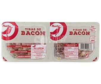 Producto Alcampo Tiras de bacon elaboradas sin gluten y sin lactosa 2 x 100 g