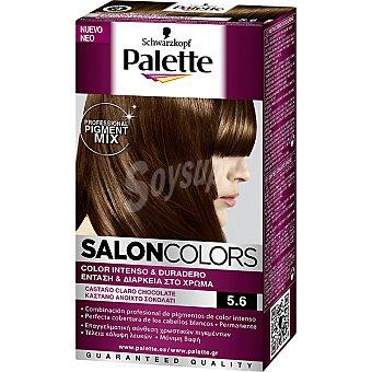 Schwarzkopf Palette Tinte nº 5.6 Castaño Claro Chocolate color intenso y duradero Salon Colors Caja 1 unidad