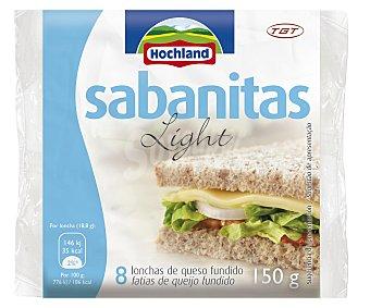 Hochland Sabanitas de queso light sin gluten 150 gramos